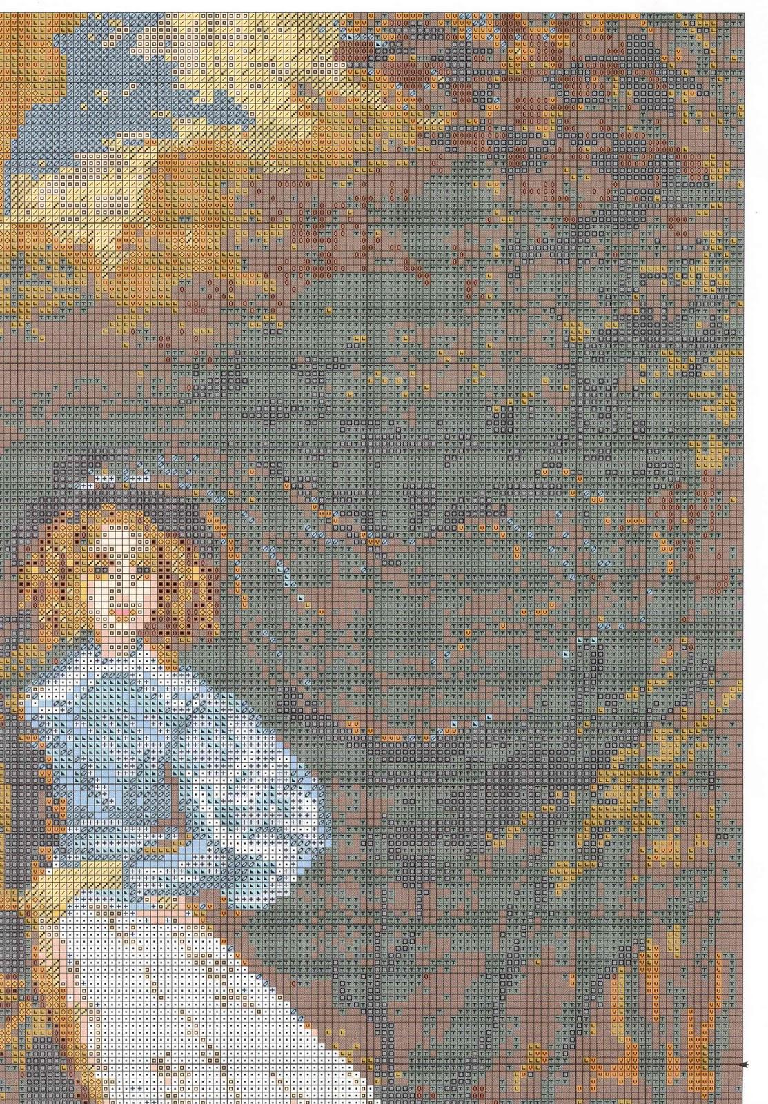 Вышивка картины всадница схемы
