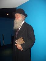 Charles Darwin in effigy