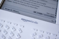 close up view of Amazon Kindle
