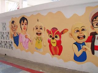 Pelukis mural shah alam kartun upin ipin the geng for Mural sekolah rendah