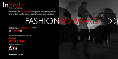fashion show invitation