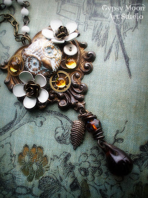 archimedes in love vintage owl necklace