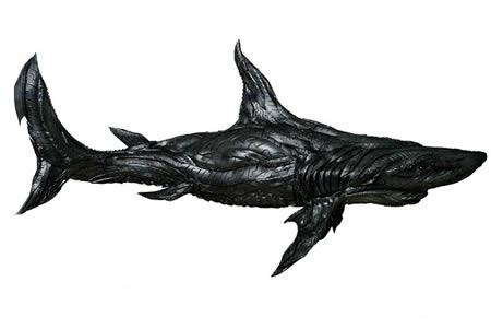 Patung Ikan hiu dari bahan ban bekas - Kerajinan Tangan menarik yang dibuat dari bahan ban bekas - www.simbya.blogspot.com