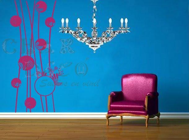 Abstracto 007 B- Listones y circulos florales