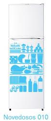 Novedosos 010 - Refrigerador lleno de comida