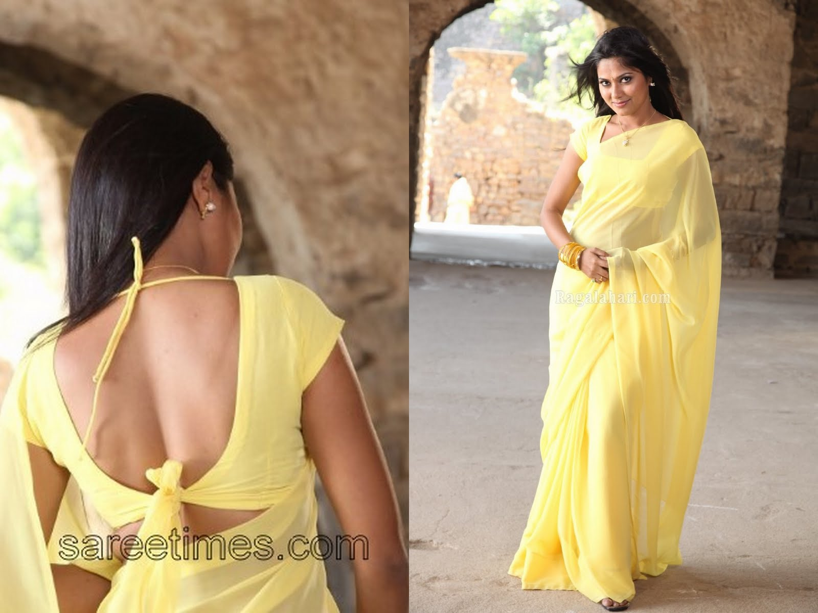 Yellow Blouse Designs 2