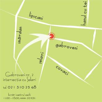 Ne găsiți aici, Gabroveni 2, intersecția cu Şelari
