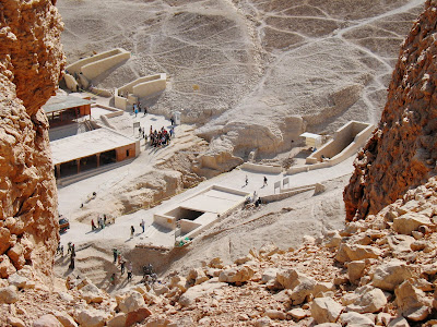 Excavations in the Valley of the Kings looking SE from above KV8