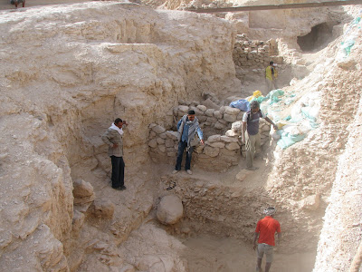Backfill of Excavations in the Valley of the Kings
