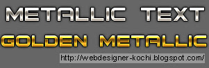 Photoshop Metallic text
