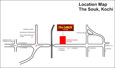 Location Map of The Souk, Kochi