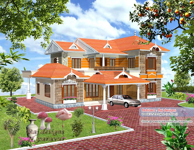 3000 sq  feet Kerala style home design   Kerala home design and