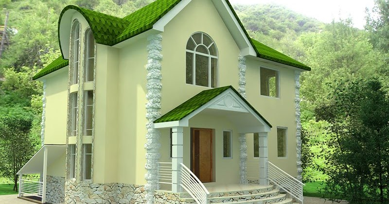 Some beautiful house designs kerala home design and for Euro design homes