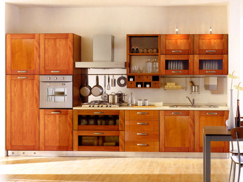 Kitchen cabinet designs 13 photos kerala home design - Kitchen design wood cabinets ...