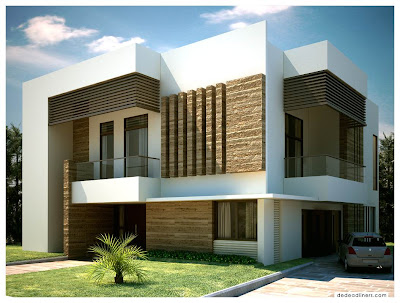 Exterior Front Doors on Modern Home Exterior   10 Photos   Kerala Home Design   Architecture
