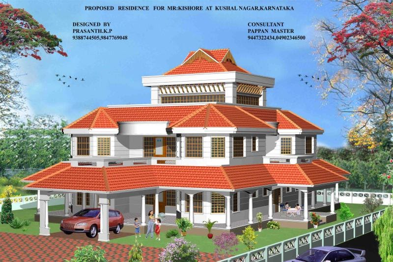 Kerala style homes by architect praveen m new home for New home designs kerala style