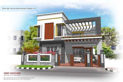 Modern house plan   2320 Sq  Ft   Kerala home design and floor plans