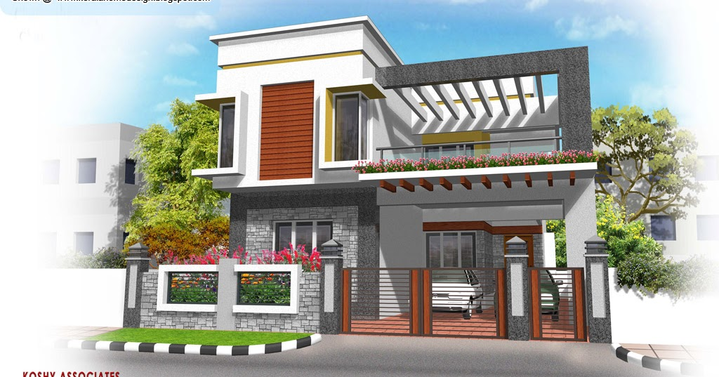Modern house plan - 2320 Sq. Ft - Kerala home design and floor plans