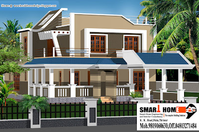 Kerala Home plan and elevation   2010 Sq  Ft    Kerala home design