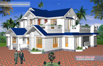 Kerala Home plan and elevation - 2561 Sq. Ft