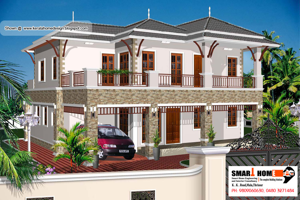 Kerala Home plan and elevation - 2811 Sq. Ft. | home appliance