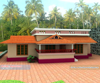 Small Budget House - Home plan and elevation - 1000 Sq. Ft
