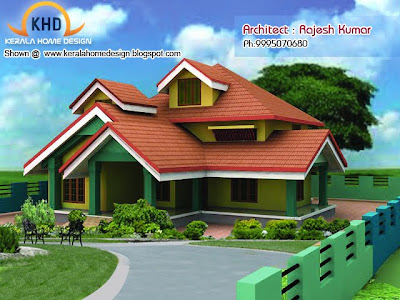 Home plan and elevation - 1750 Square Feet