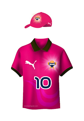 Kochi IPl Team Jersey Colour Variations