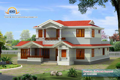 . plan and elevation - 2497 Sq. Ft - Kerala home design and floor plans