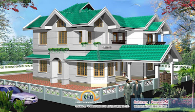 Kerala New Home Plan - 2840 Square Feet