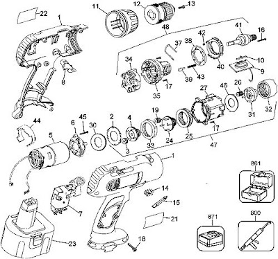 DeWalt DW953 Drill Exploded Diagram
