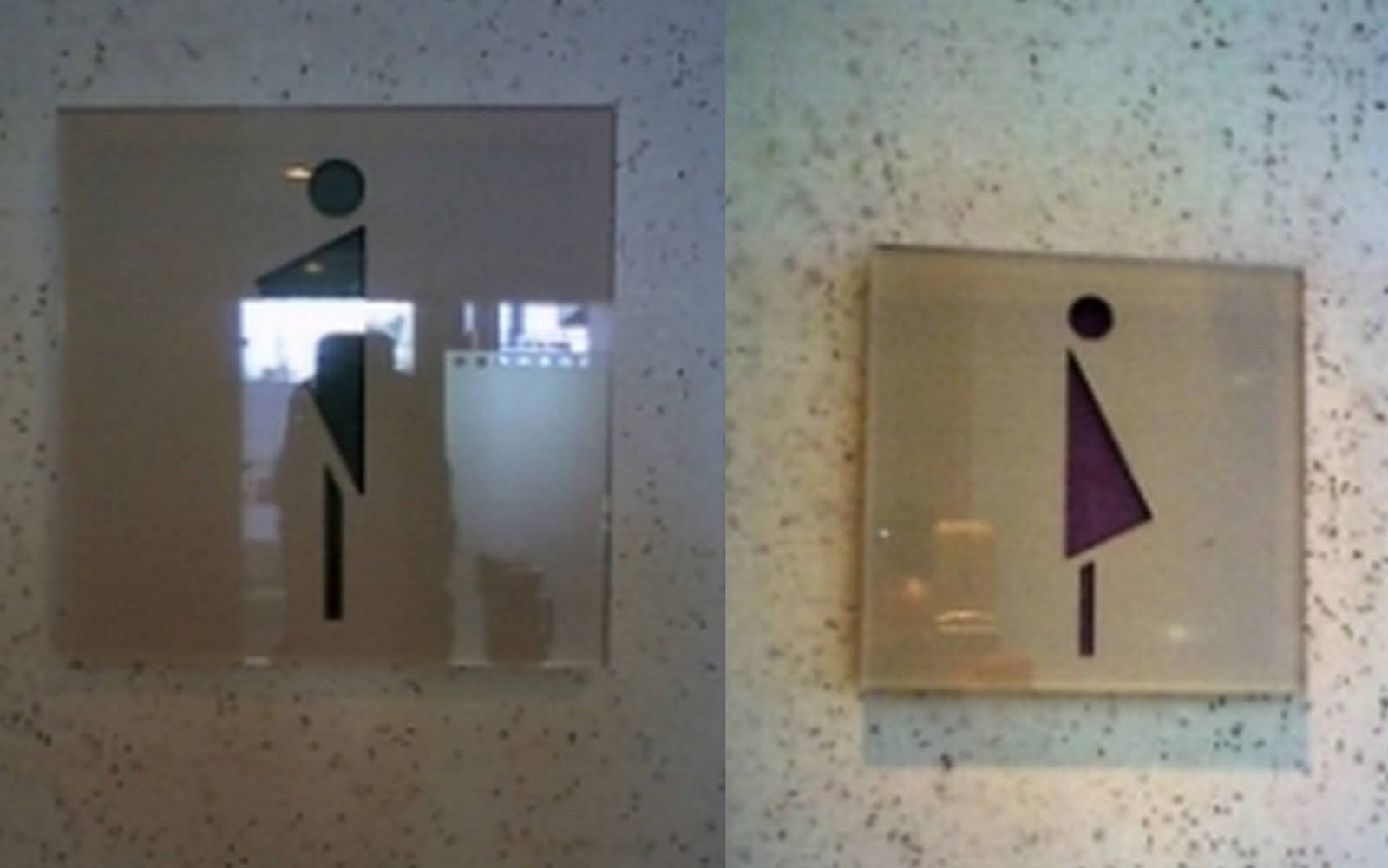 Bathroom Signs Circle And Triangle go where? sex, gender, and toilets - sociological images