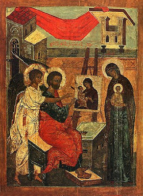 Picture of Saint Luke painting an icon