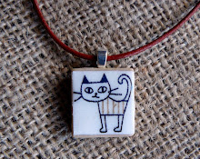 Cute cat scrabble pendant