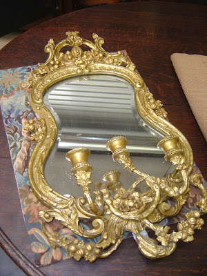 Antique Attic Early 19th Century Girondelle Mirror