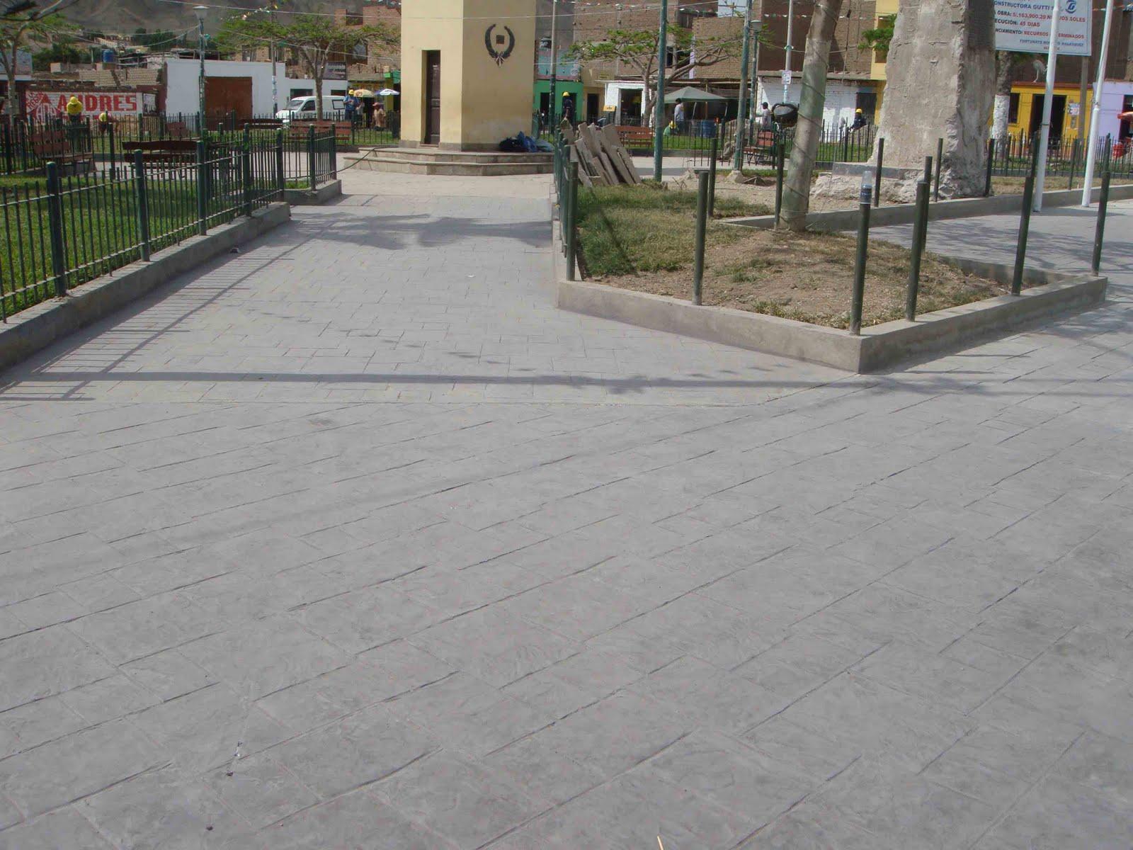 Increte per systems concreto estampado en la plaza de for Adoquin para estacionamiento