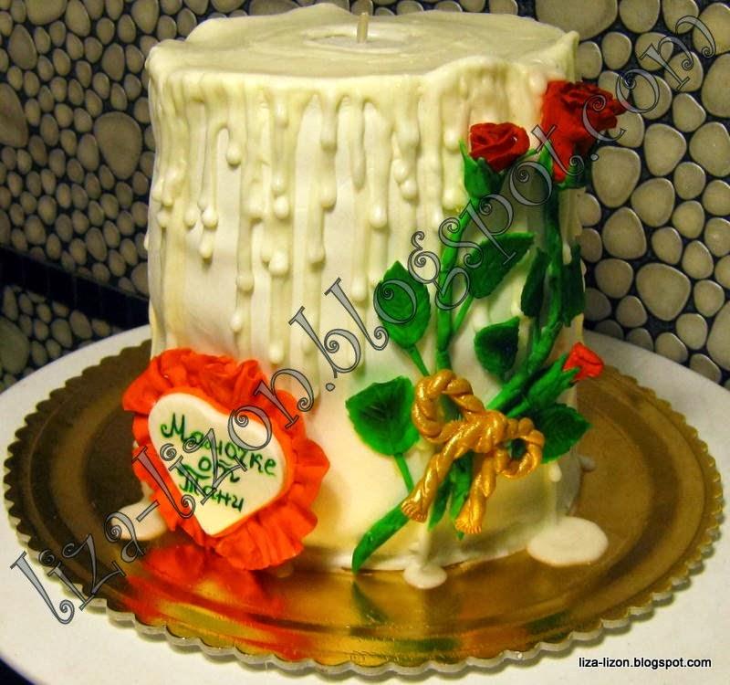 Как сделать свечу на торт