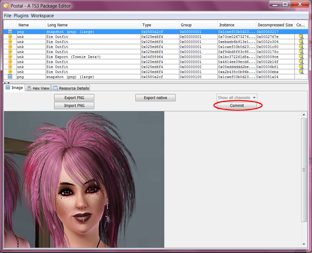 How to change pictures in CAS / Sim Bin - Tutorial 09+Commit