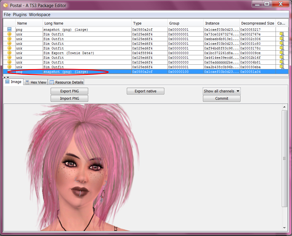 How to change pictures in CAS / Sim Bin - Tutorial 10+Select-PNG+2nd+Time