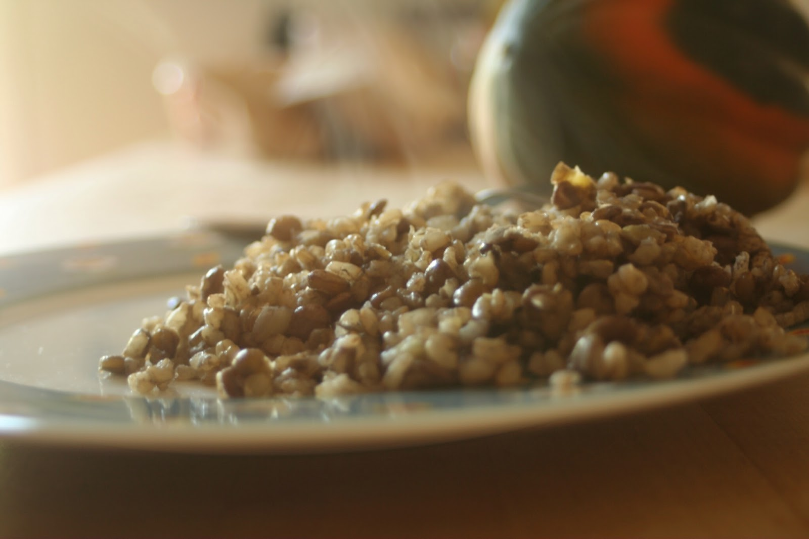 brown rice with lentils