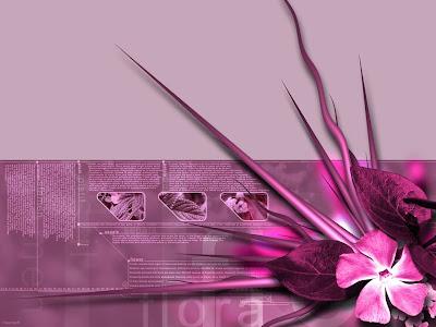 Desktop Wallpaper, Gallery, 3D-Art, Flora, Pink 3D Theme