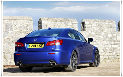 2011 lexus is f rear angle view