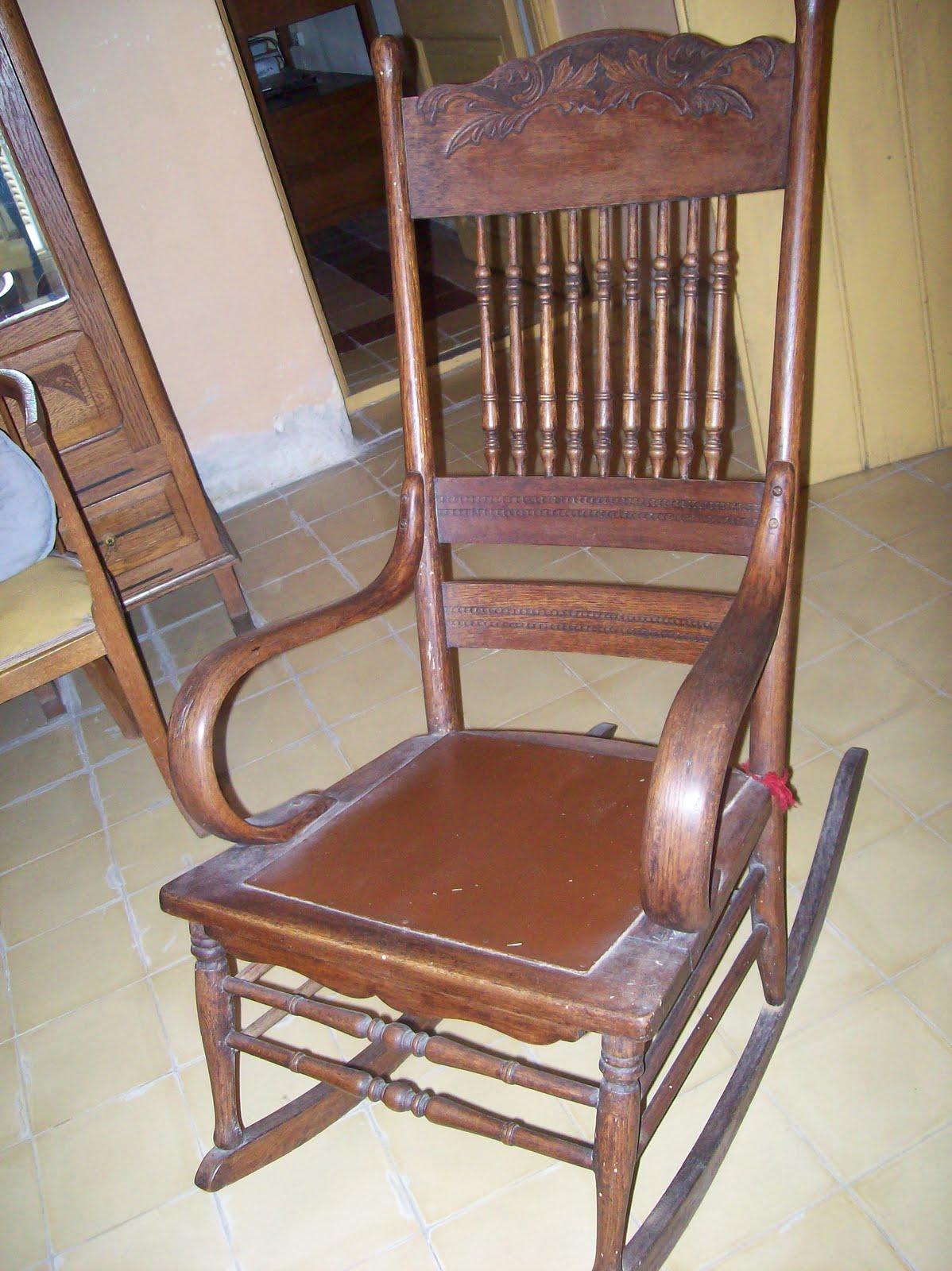 Antig edades coleccionismo silla mecedora antigua - Sillones mecedoras ...
