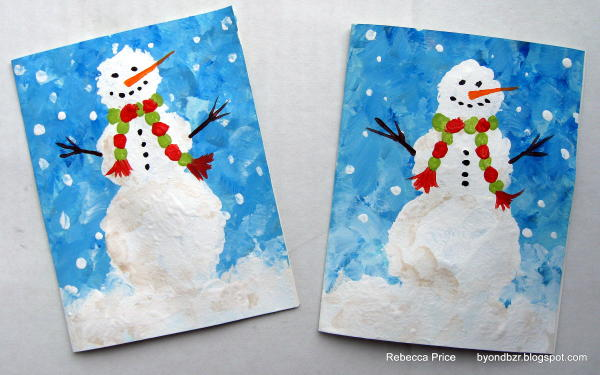 Distress to impress hand painted christmas cards Christmas card scenes to paint