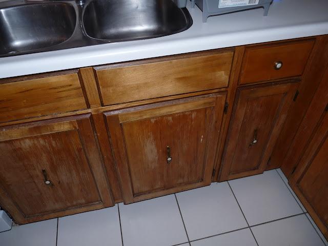 DIY Re-Varnished Cabinet Fronts