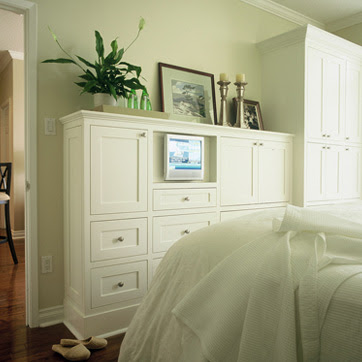 White wood chair for sale and built ins galore for Built in cabinet designs bedroom