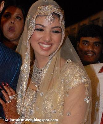 Ayesha looking beautiful in her marriage