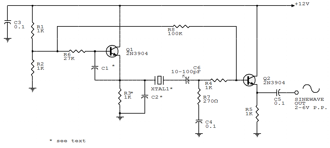 electronic circuits collections two transistors sine wave sine wave oscillator circuit 555 sine wave oscillator circuit for inverter
