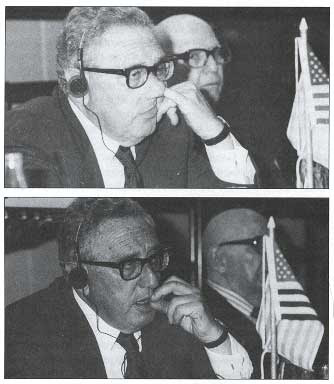 Henry kissinger finger in his nose