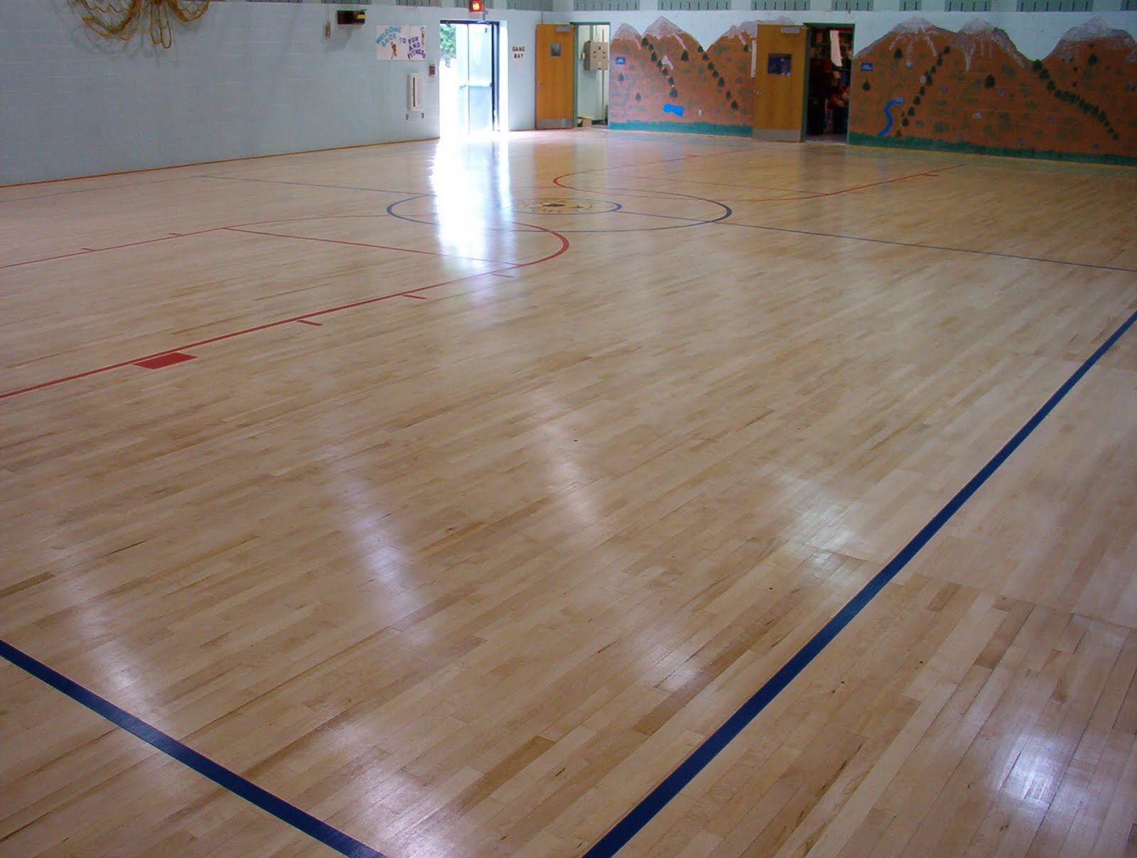 Applegate wood floors blog featured project new maple for Gym flooring